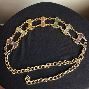 Gold Tone Chain Link Belt